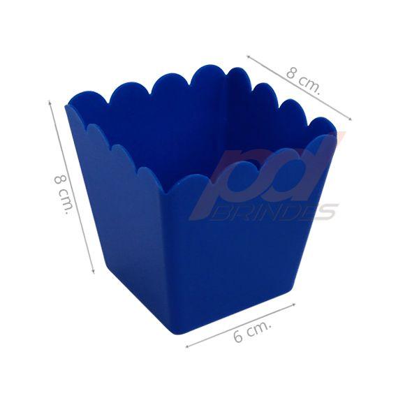 Cachepot 350 ml Azul - Kit 010 peças