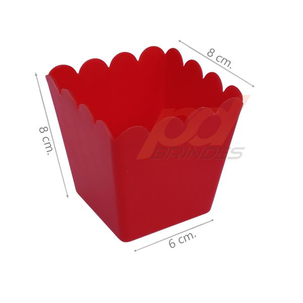 Cachepot 350 ml Vermelho - Kit 010 peças