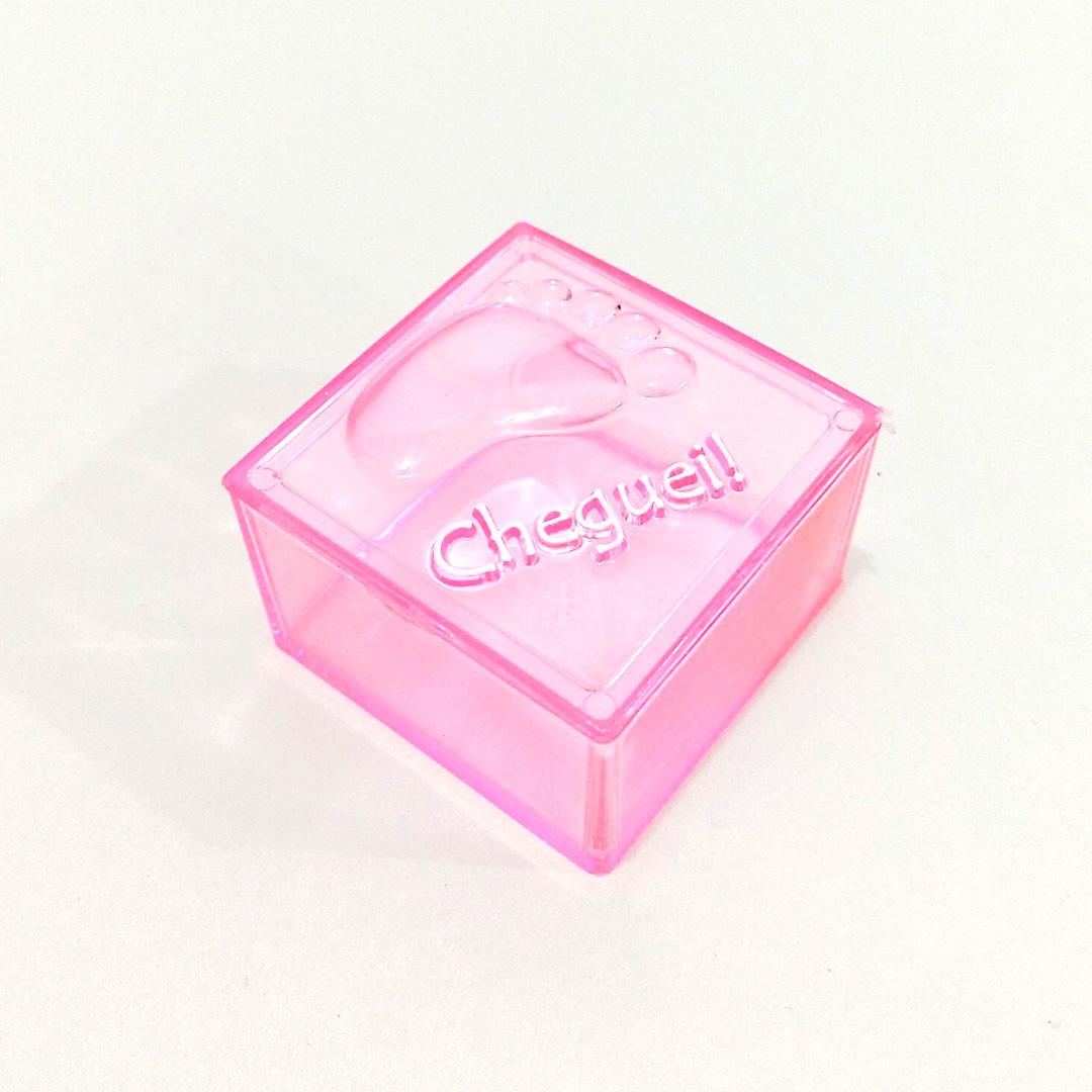 Caixinha Cheguei Rosa - Kit 10 peças