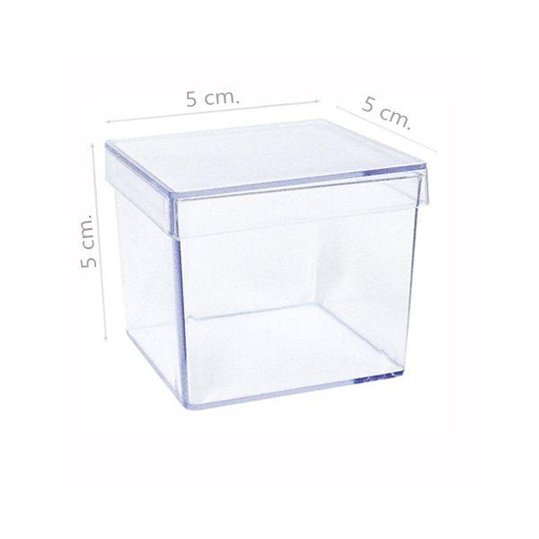 Caixinha de acrílico 5x5x5 cm - Kit 050 peças