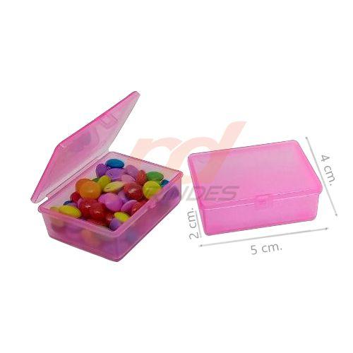 Caixinha Flip Top 5x4cm Rosa - Kit 010 peças