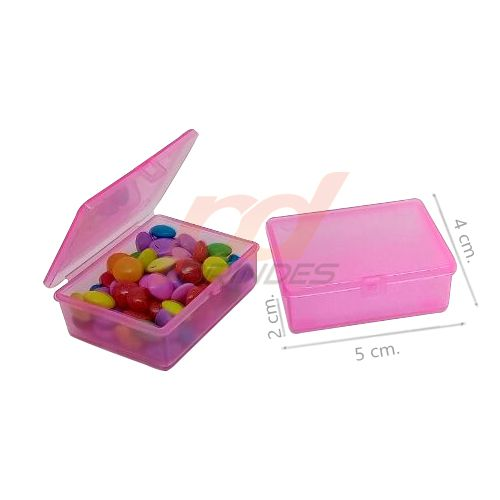 Caixinha Flip Top 5x4cm Rosa - Kit 050 peças