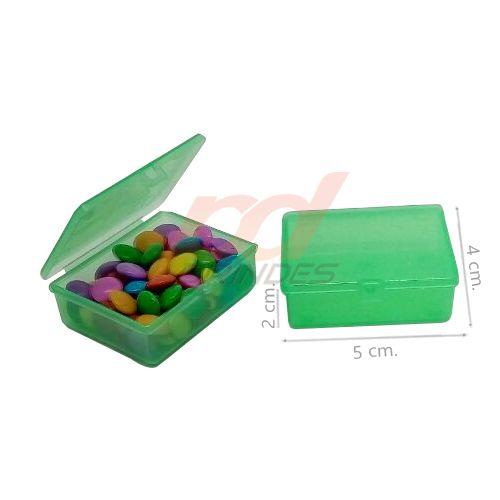 Caixinha Flip Top 5x4cm Verde - Kit 010 peças