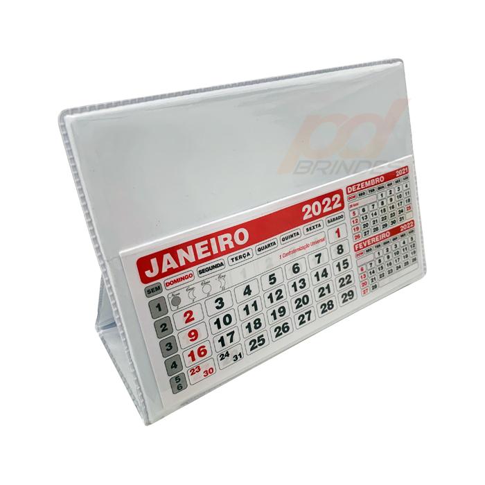 Calendário de mesa 16x12 cm - Kit 050 peças