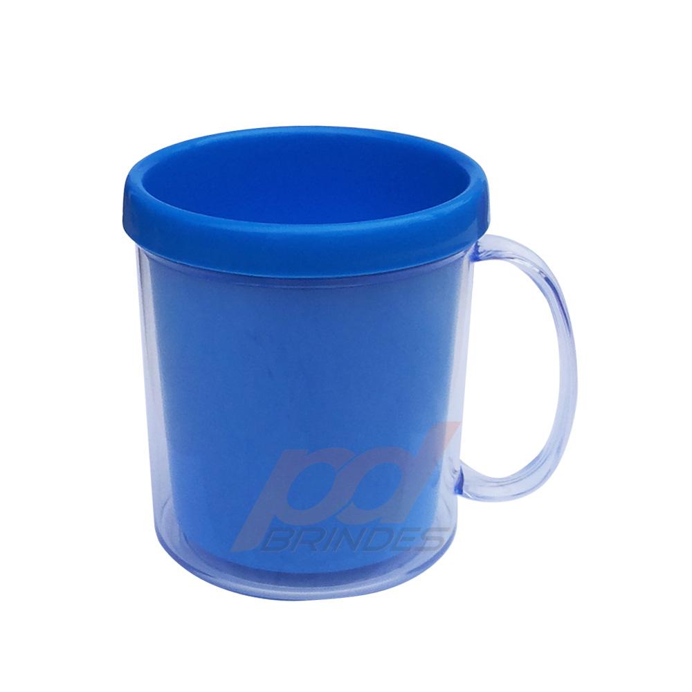 Caneca de Acrílico para Foto Azul - Kit 010 peças