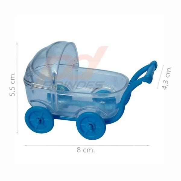 Carrinho de Bebe Azul - Kit 010 peças