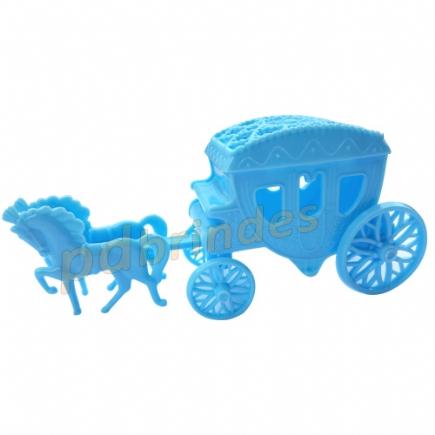 Carruagem Acrílica Azul - Kit 10 peças