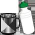 canecas, copos e squeezes