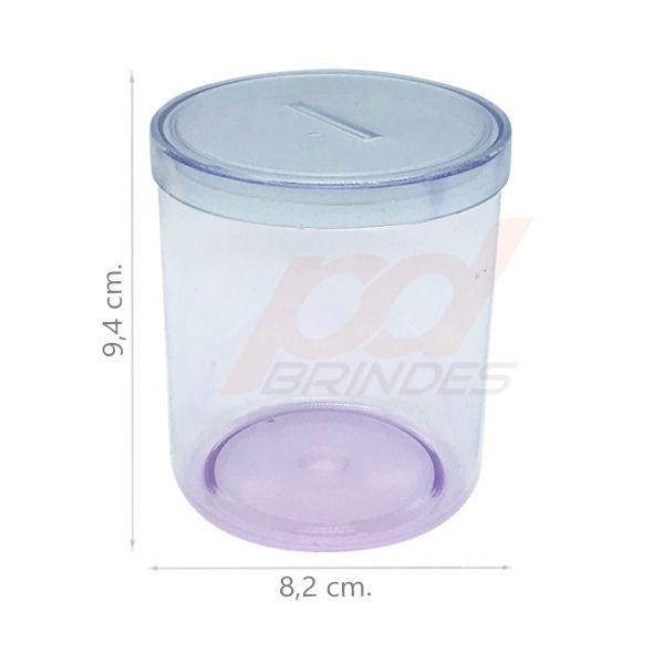 Cofrinho de acrílico Cristal - Kit 120 peças