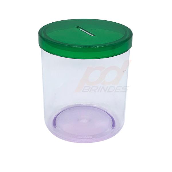 Cofrinho de acrílico Verde - 012 peças