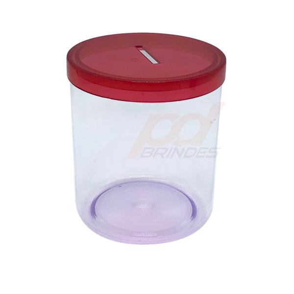 Cofrinho de acrílico Vermelho - Kit 120 peças