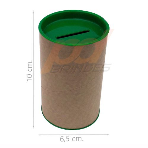 Cofrinho de Papelão Verde - Kit 050 peças
