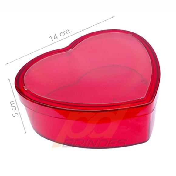Baleiro Coração porta foto Vermelho - kit 010 peças