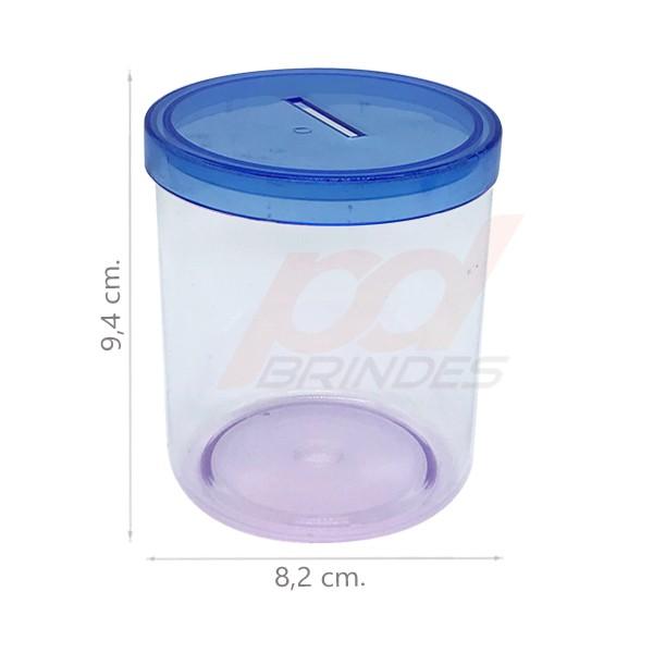 Cofrinho de acrílico Azul - 012 peças
