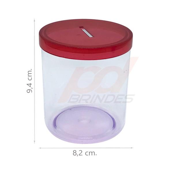 Cofrinho de acrílico Vermelho - Kit 060 peças