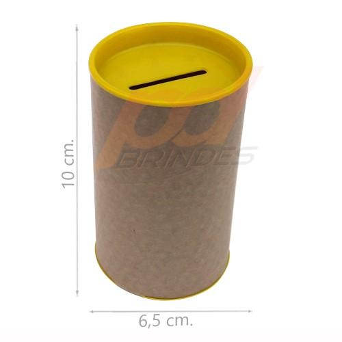Cofrinho de Papelão Amarelo - Kit 100 peças