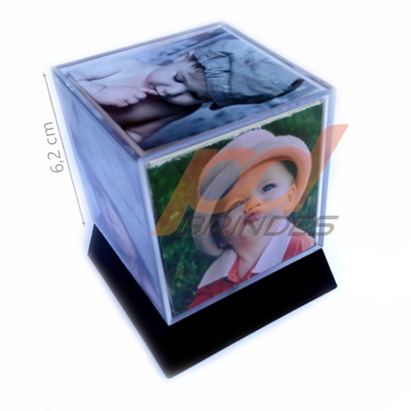 Foto cubo 6,2 cm com base - Kit 05 Unidades