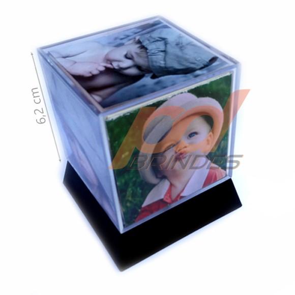 Foto cubo 6,2 cm com base - Kit 60 Unidades