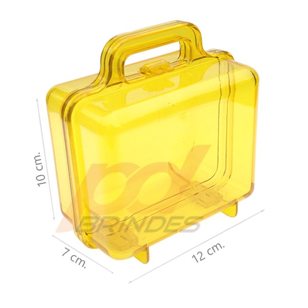Maleta acrílica Amarela - Kit 36 peças