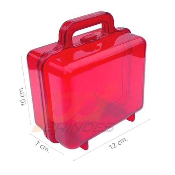 Maleta acrílica Vermelha - Kit 18 peças