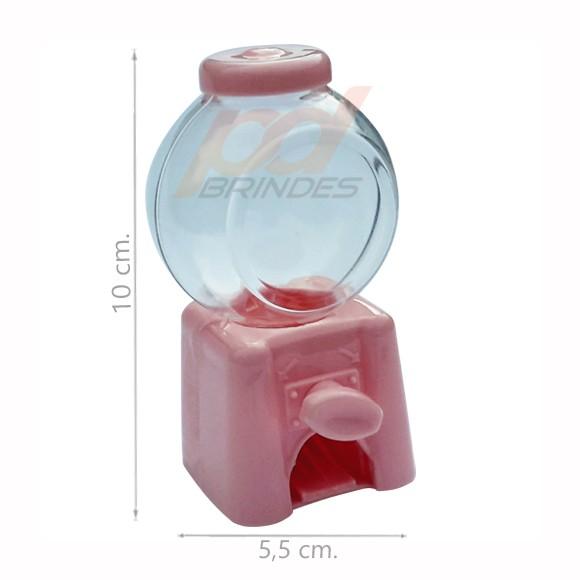 Mini Baleiro Candy Machine Rosa - Kit 06 peças