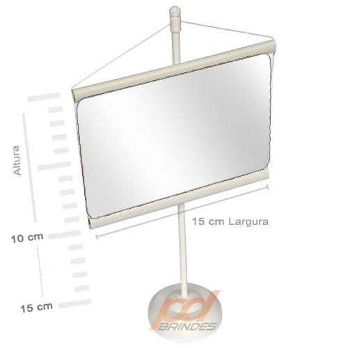 Mini banner de mesa Branco - Para Foto 15 cm - Kit 010 peças