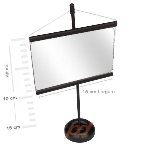 Mini banner de mesa Preto - Para Foto 15 cm - Kit 010 peças