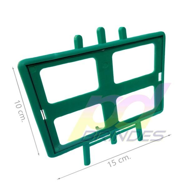 Porta retrato Cavalete Horizontal Verde - Kit 010 peças