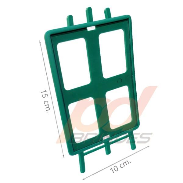 Porta retrato Cavalete vertical Verde - Kit 010 peças