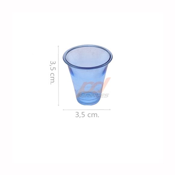 Copinho acrílico Azul 10 ml. - Kit 200 peças