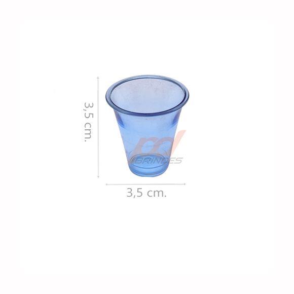 Copinho acrílico Azul 10 ml. - Kit 500 peças