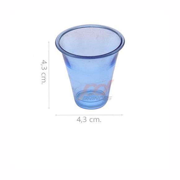 Copinho acrílico Azul 25 ml. - Kit 500 peças