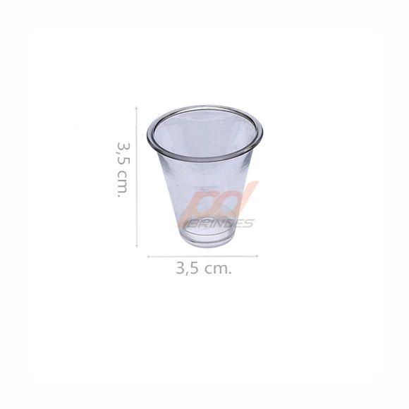 Copinho acrílico Cristal 10 ml. - kit 050 peças