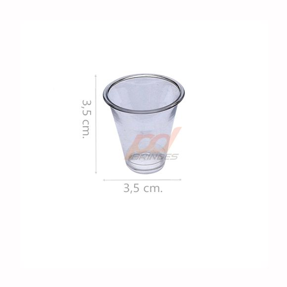 Copinho acrílico Cristal 10 ml. - kit 500 peças