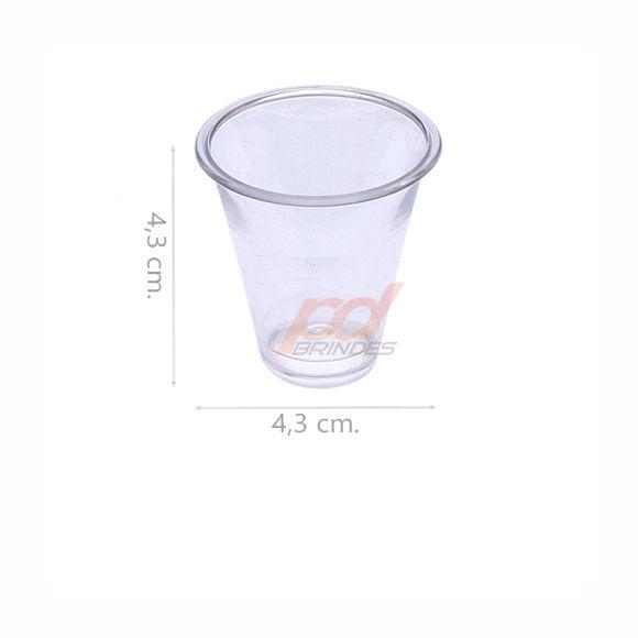 Copinho acrílico Cristal 25 ml. - kit 050 peças