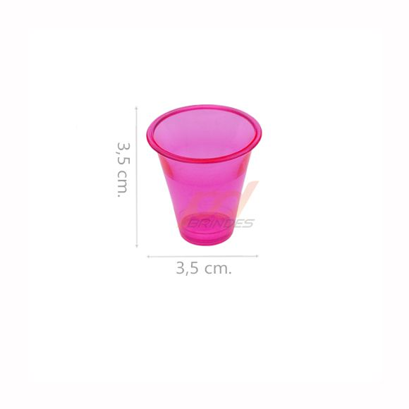 Copinho acrílico Rosa 10 ml. - kit 200 peças