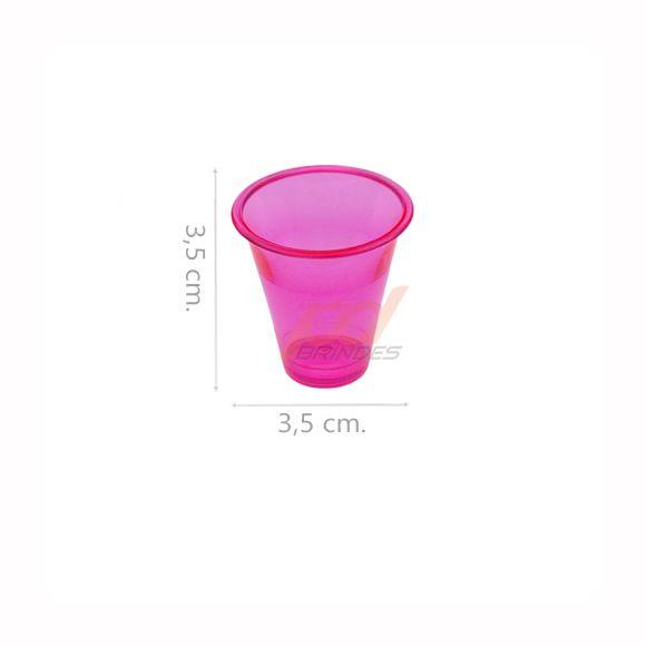 Copinho acrílico Rosa 10 ml. - kit 500 peças