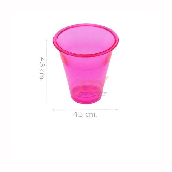 Copinho acrílico Rosa 25 ml. - kit 200 peças