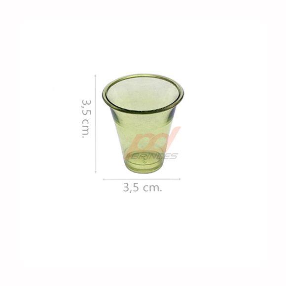 Copinho acrílico Verde 10 ml. - kit 500 peças