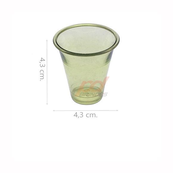 Copinho acrílico Verde 25 ml. - kit 200 peças