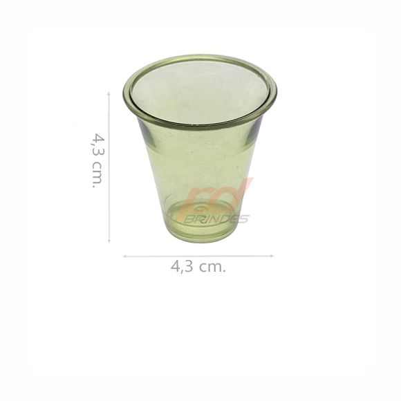 Copinho acrílico Verde 25 ml. - kit 500 peças