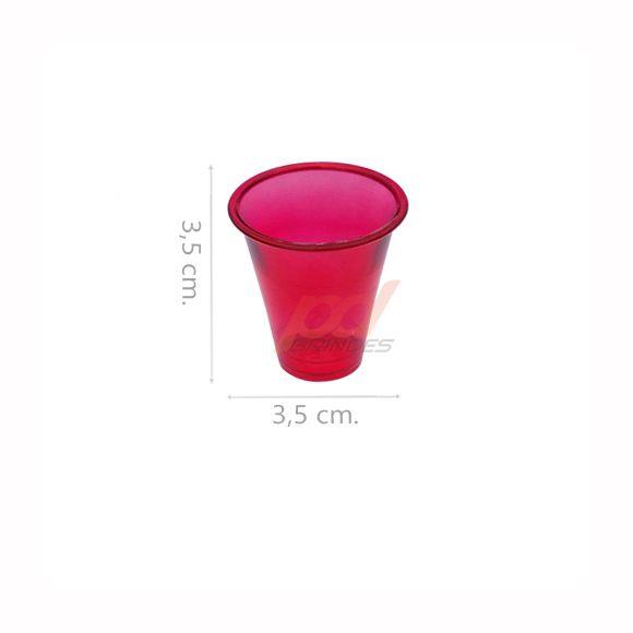 Copinho acrílico Vermelho 10 ml. - kit 050 peças