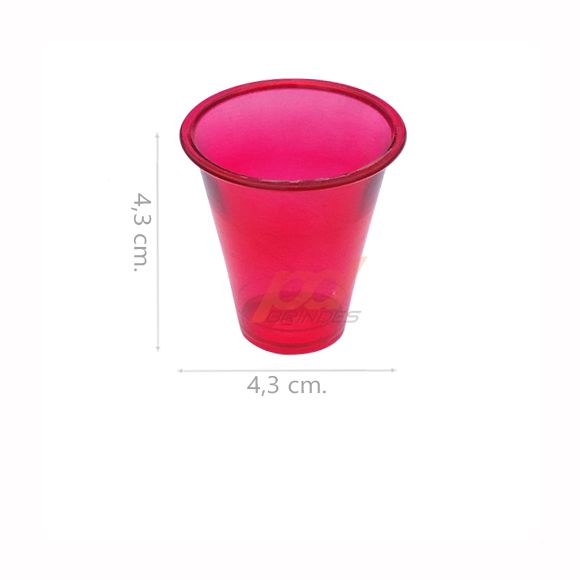 Copinho acrílico Vermelho 25 ml. - kit 500 peças