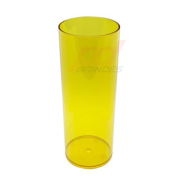 Copo long Drink 300 ml Amarelo - Kit 100 peças