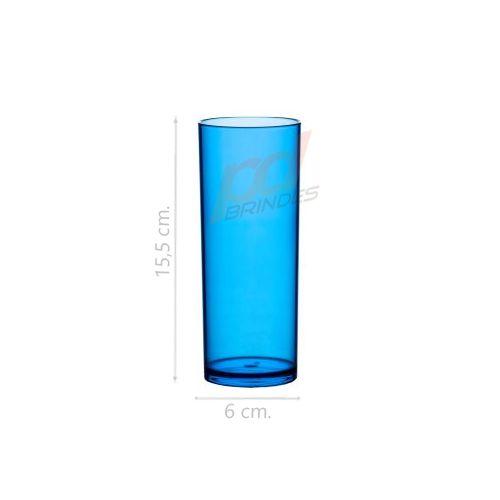 Copo long Drink 300 ml Azul - Kit 100 peças