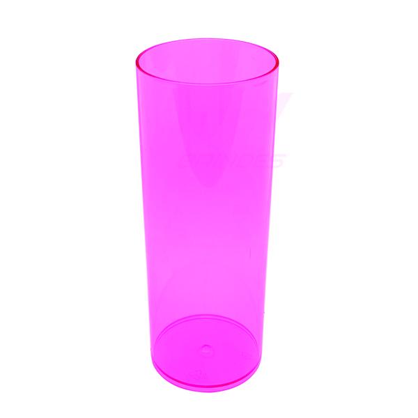 Copo long Drink 300 ml Rosa - Kit 050 peças
