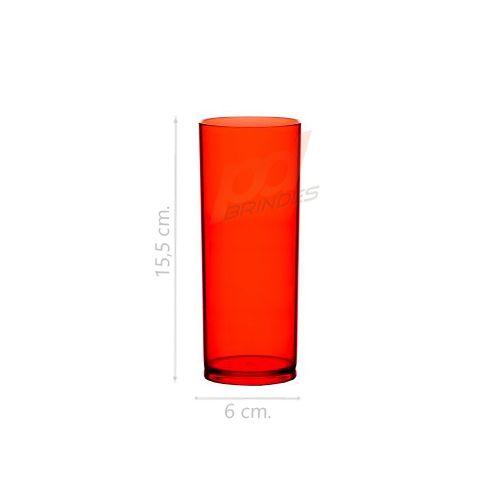 Copo long drink 300 ml Vermelho - 010 peças