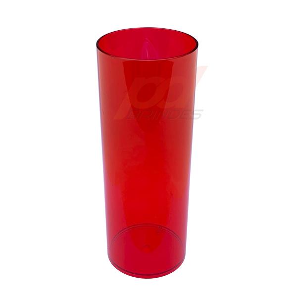 Copo long Drink 300 ml Vermelho - Kit 050 peças