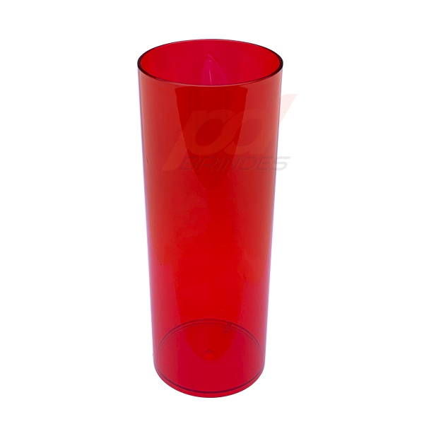 Copo long Drink 300 ml Vermelho - Kit 100 peças