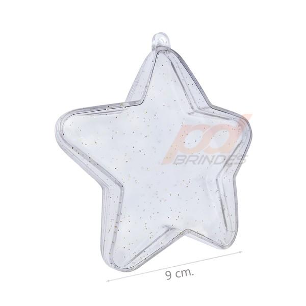 Estrela Acrilica Natalina - 050 Unidades